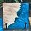 Thumbnail: Set of 6 Maple burl and Baja blue and pearl epoxy coasters set