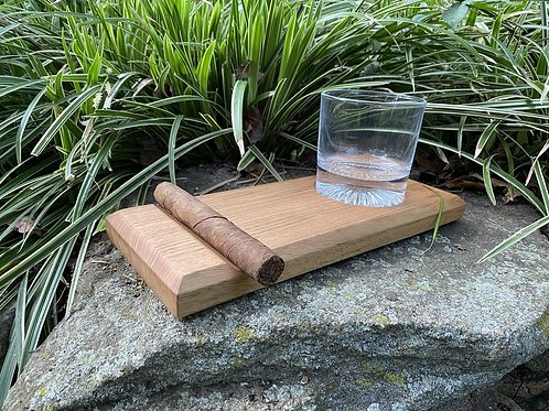 Butternut whiskey and cigar tray