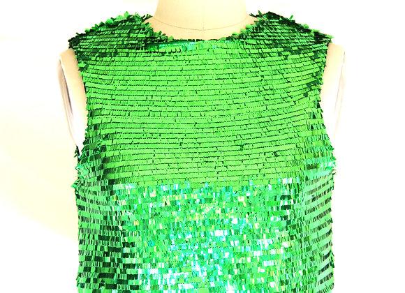 Green Sequin Crop