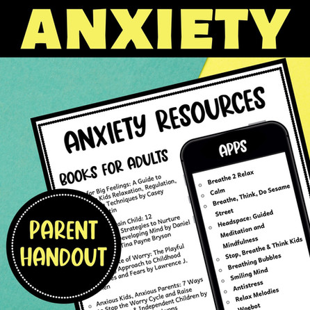 Free Printable for Resources on Child Anxiety - Helpful for Educators and Parents.