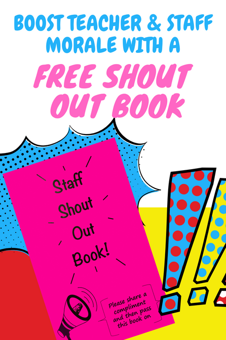 Shout Out Book to Boost Teacher and Staff Morale