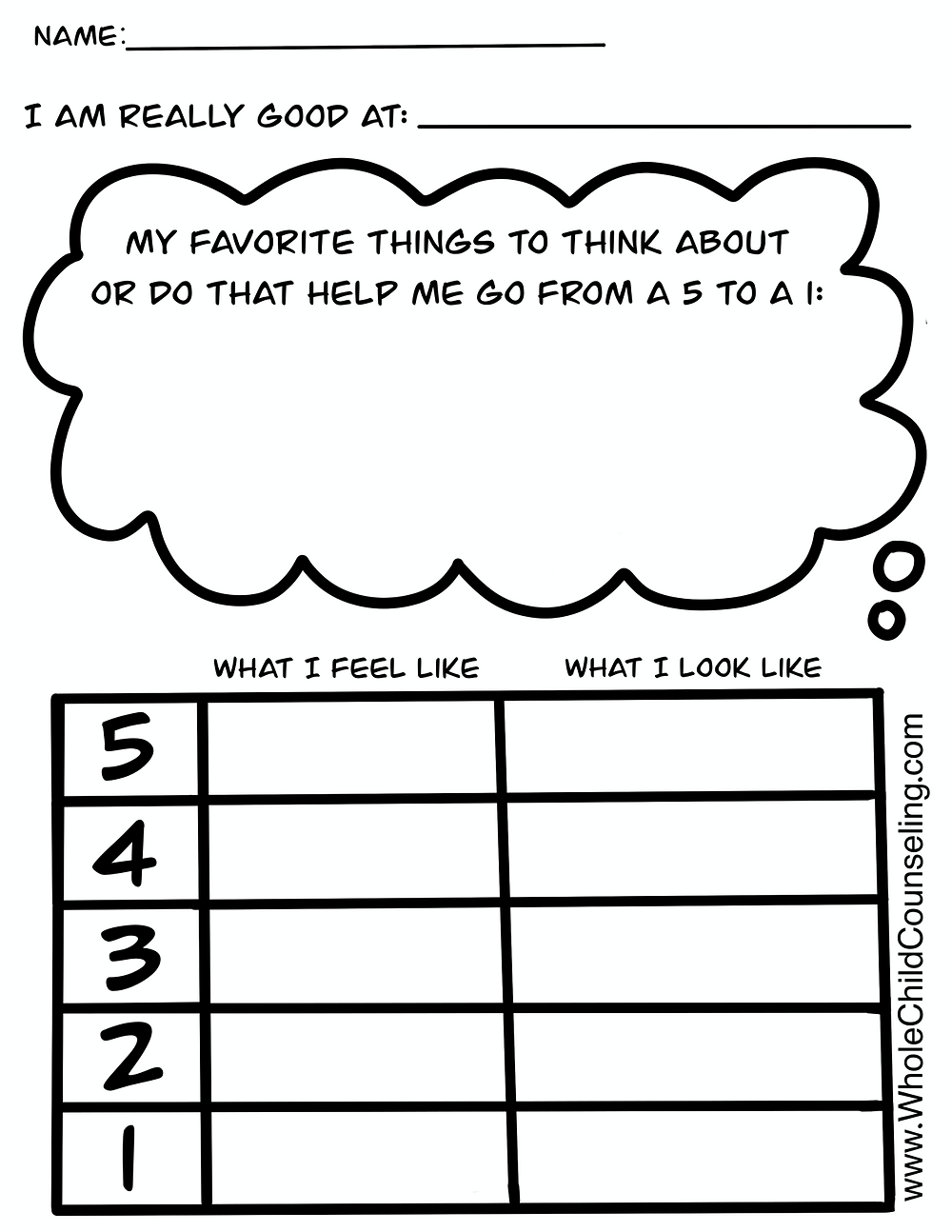 worry scale for kids