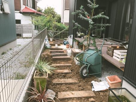 庭づくり@葉山町 ウッドフェンスなど