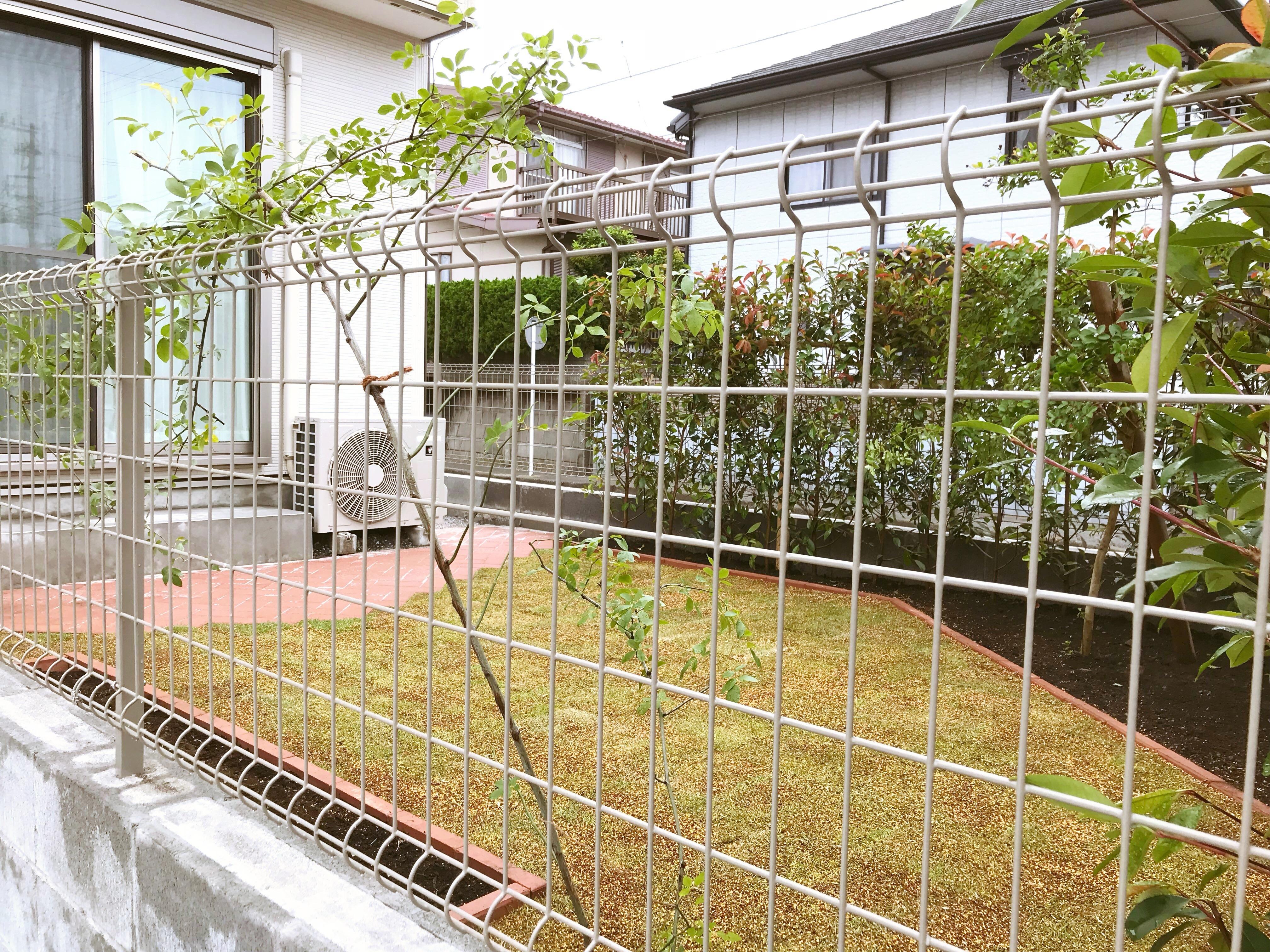 芝生とレンガのお庭@横須賀市久里浜台
