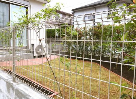 庭づくり@横須賀市久里浜台 レンガと芝生