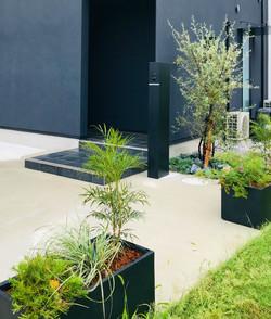 玄関前・プランター植栽