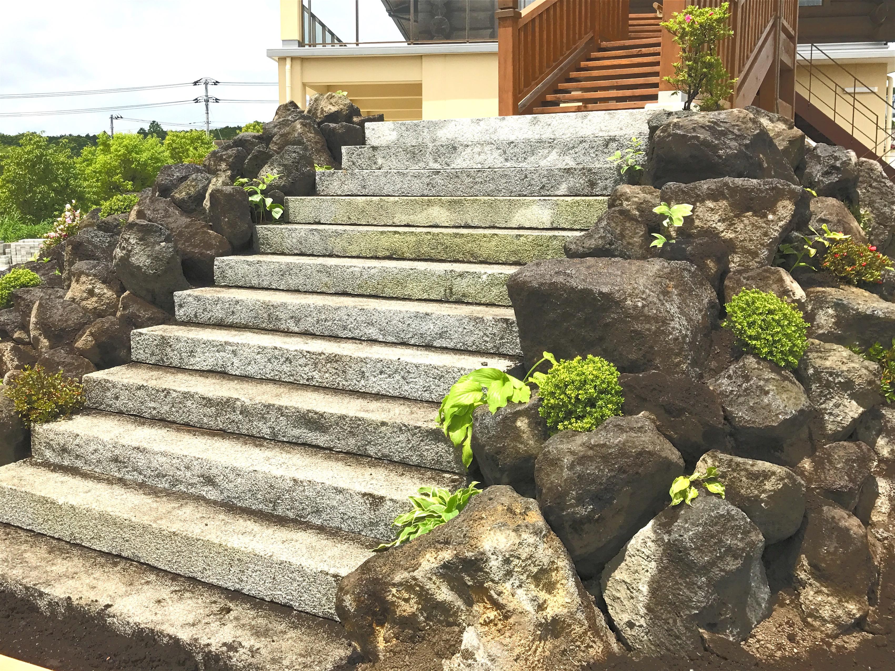 石積み階段