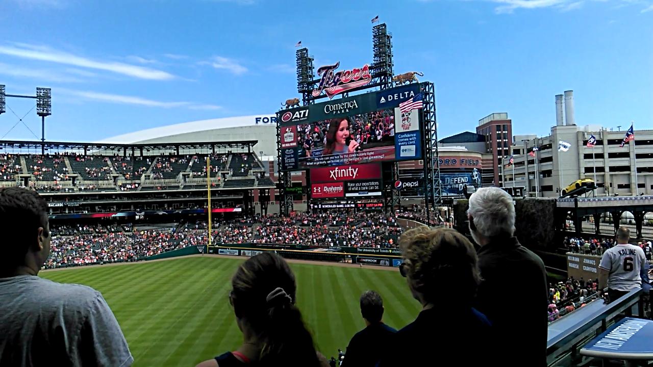 Alison Singing In Tiger's Stadium