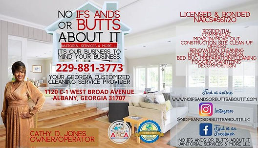 No IFS ANDS or BUTTS About It, Janitorial Services and More