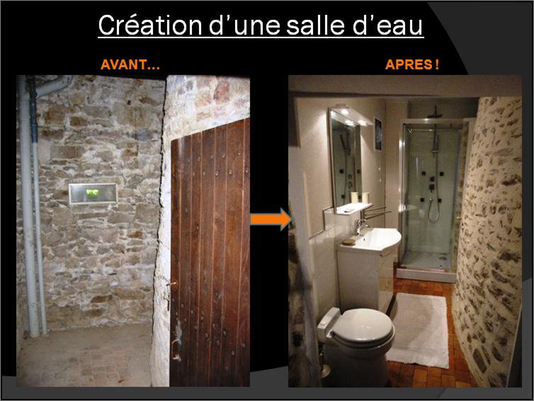 Création d'une salle d'eau