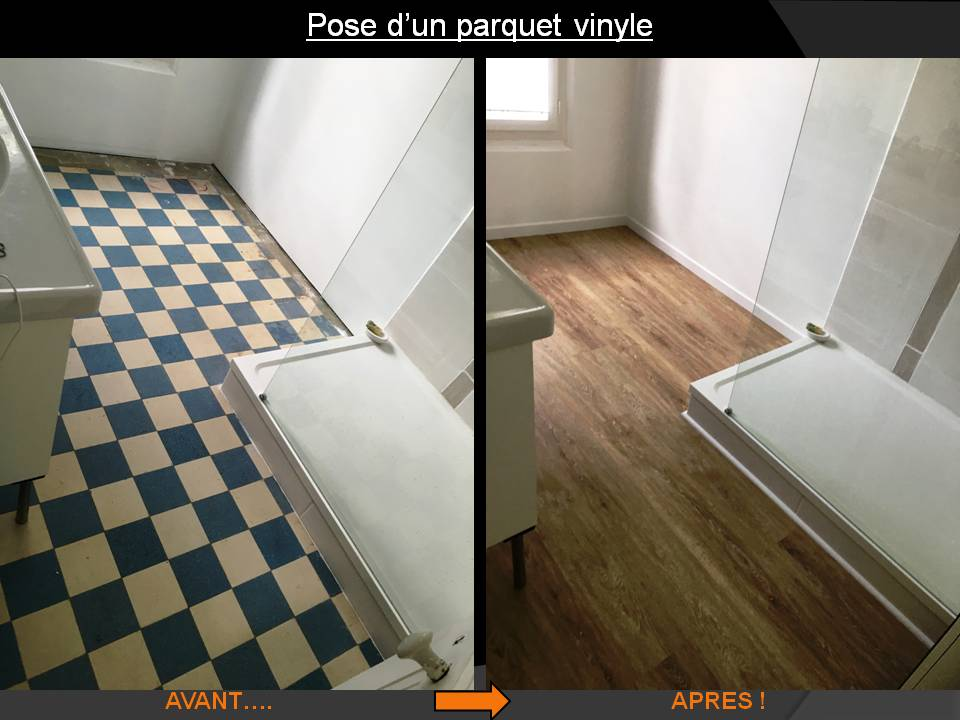 rénovation sol pose parquet vynil