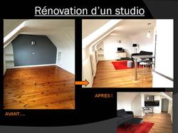 rénovation studio Saint-Germain