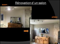Rénovation Peinture murale salon