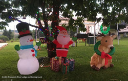 Christmas in July at the Campground.