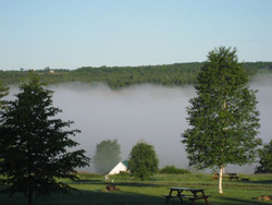Fog over the Aroostook River.