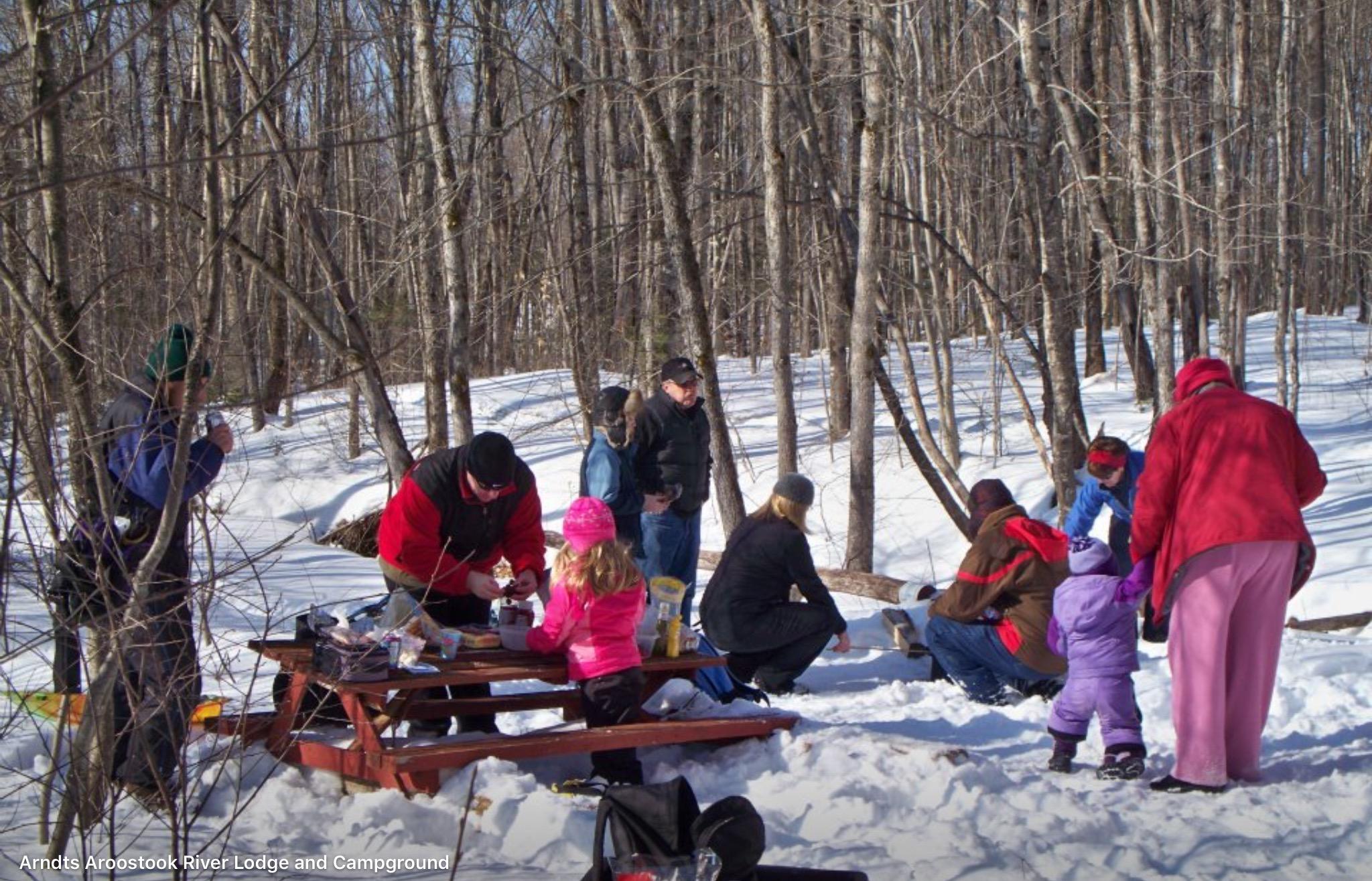 Winter picnic.
