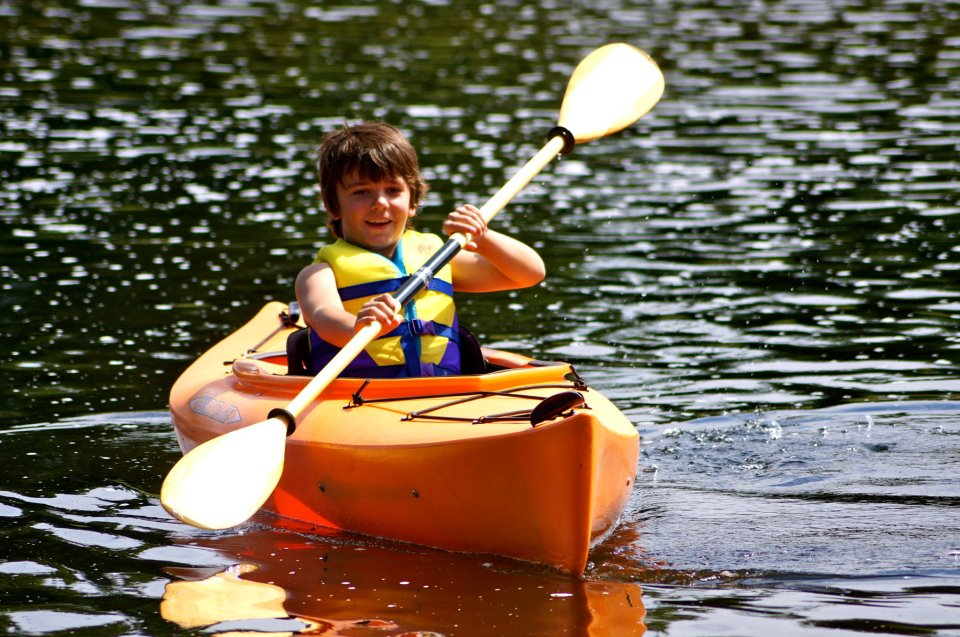 You're never too young to kayak.
