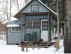Warming hut for snowshoeing.