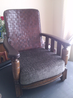 A chair I  re-upholstered