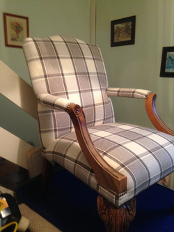 After I re-upholstered  large chair