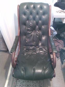 Before Deep  button chair