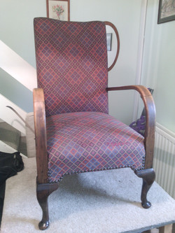 After I repaired chair seat