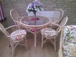 After I re-upholstered dining chairs