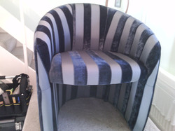 After I re-upholstered tub chair
