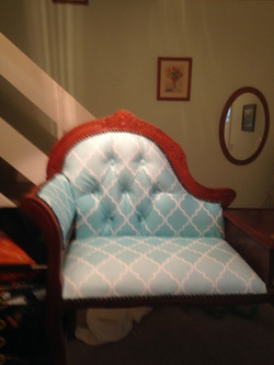 After I Re-upholstered  Deep  button