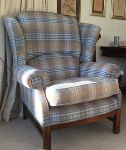 After I re-upholstered chair
