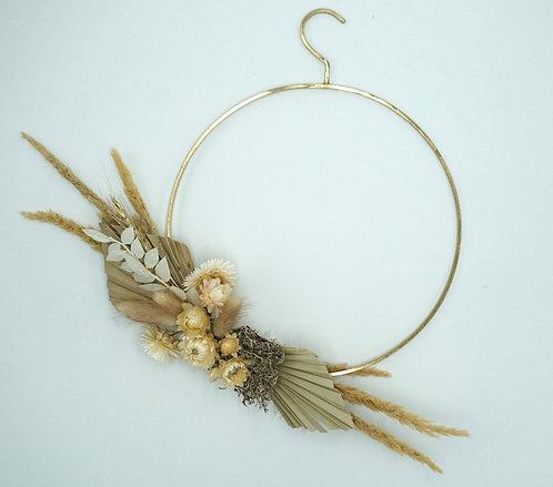 Flower Hoop gold mit Aufhängebügel 25 cm