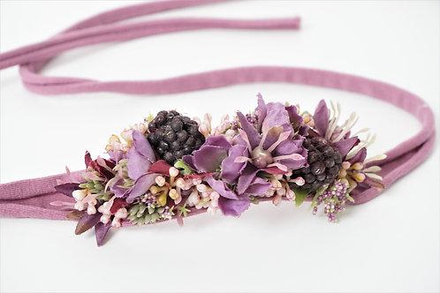 """Baby Haarband aus Seidenblumen """"Woodland Berries"""""""