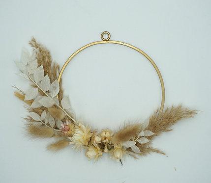 Mini Floral Hoop gold 16 cm