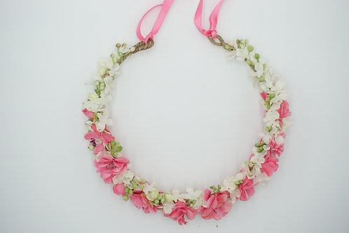 """Blumenhaarkranz aus Seidenblumen """"Pink Cherry Blossom"""""""