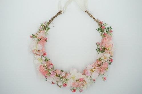 """Blumenhaarkranz aus Seidenblumen für Kinder """"Rose Cherry Blossom"""""""