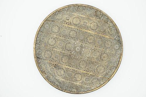 Boho-Teller gold-metallic, Ø 30 cm