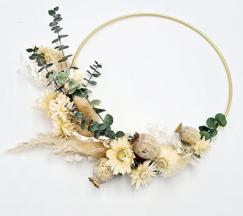 Flower Hoop naturfarben gold 30 cm