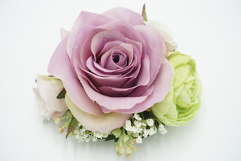 "Blumenhaarkamm aus Seidenblumen ""Rose & Ranunculus"""