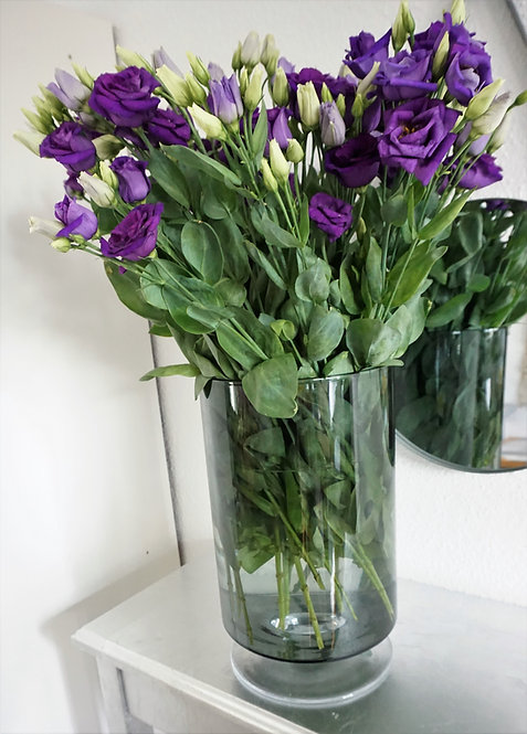 Vase glas groß, große glasvase, vase grau, vase transparent, große blumenvase, minimalistische vase, vasen set