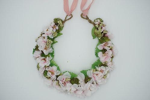 """Ausstellungsstück! Blumenhaarkranz aus Seidenblumen """"Cherry Blossoms Lover"""""""