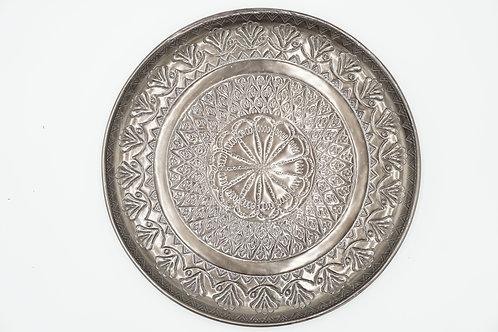 Boho-Teller silber-metallic Ø 30 cm