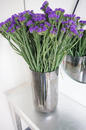 Vase metallic, vase silber glänzend, vase silber, vase hoch silber, vase elegant, extravagante vase silber, vasen set