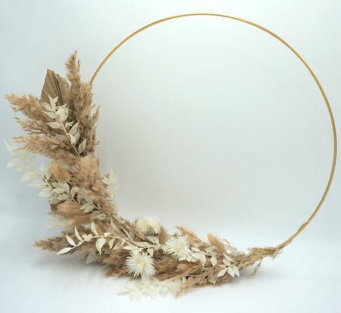 Goldener Flower Hoop stehend, 40 cm