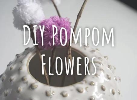 DIY Pompom Flowers - Kinderleicht nachgemacht