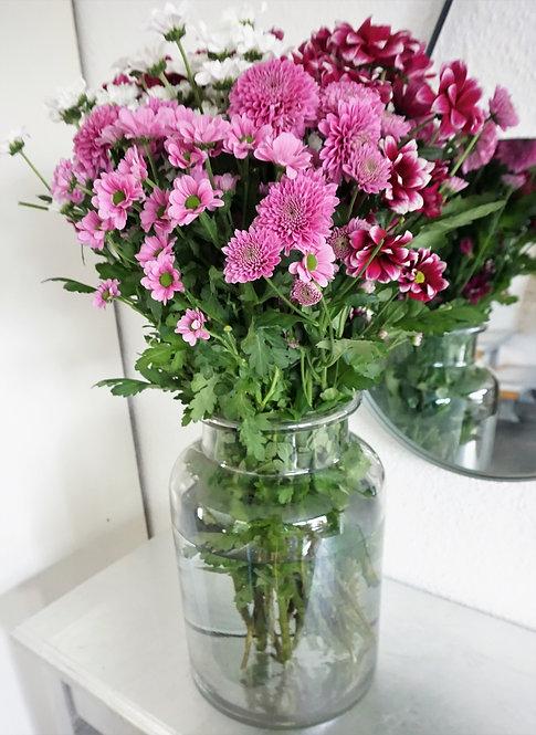 große vase glas, große blumenvase farbverlauf, minimalistische vase, vasen set