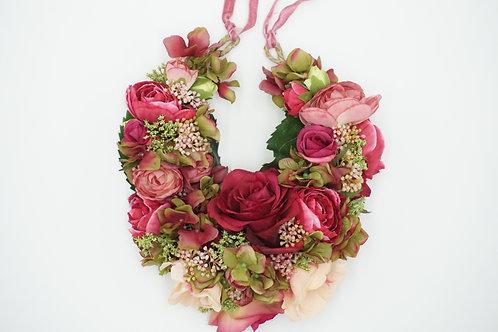 """Ausstellungsstück! Blumenhaarkranz aus Seidenblumen """"Boho Love"""""""