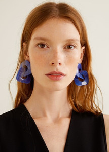 Boucles d'oreilles couleurs froides