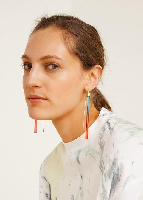 Boucles d'oreilles longues et fines