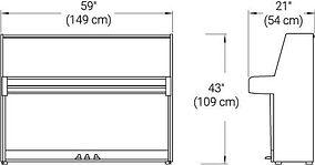 Yamaha B1 dimensions
