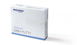 Maxxeus DBM Putty is 100% Allograft with no synthetic fillers or carriers. Packaged in an easy to use syringe, Maxxeus DBM Putty is sterile, moldable, and resistant to irrigation. Each lot is tested for osteoinductivity using a validated in vitro model.